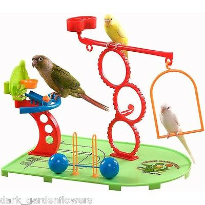 Birdie Basketball Gym Play Stand For Parrots Budgie Cockatiel Love Bird • 21.99£