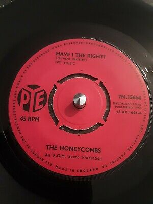 The Honeycombs – Have I The Right? Vinyl 7  Pye Single 7N 15664 1964 • 3.35£
