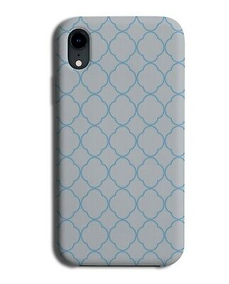 Grey And Blue Mosaic Tile Outline Phone Case Cover Outlines Abstract Mens F207 • 9.99£