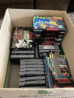 $ CDN659.10 • Buy 35 Nintendo SNES Game Lot Some With Boxes & Instructions Used