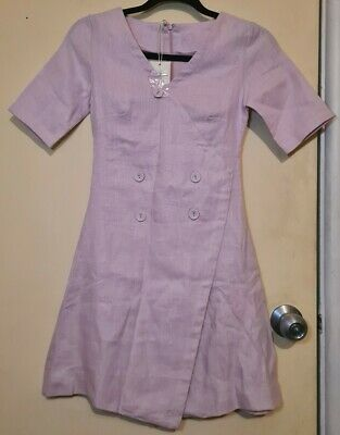 AU50 • Buy Zulu & Zephyr Lilac Pink Linen Dress XS