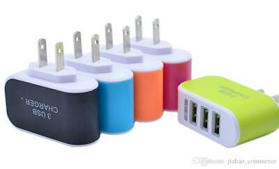 £3.25 • Buy Fast Charger USA American Plug For Phones 3.1A European Travel Adapter With 3USB