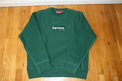 $ CDN1200.05 • Buy Supreme Box Logo Crewneck Dark Green FW18 Size Small Brand New