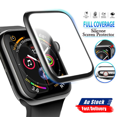 AU4.88 • Buy For Apple Watch 6 5 4 3 2 SE Tempered Glass Full Screen Protector 38/42/40/44mm