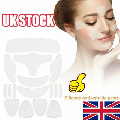 Reusable Anti Wrinkle Chest Neck Eye Face Pad Silicone Removal Patch Skin CareD2 • 5.99£