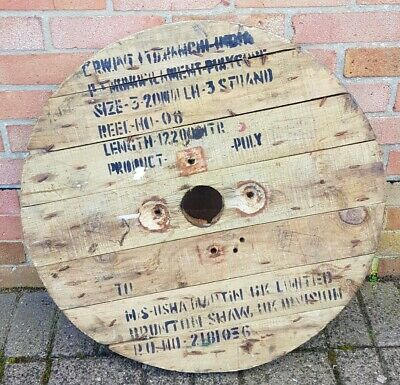 Wooden Cable Drum Reel Top With Prints Ideal As Garden,Coffee Table,Clock Medium • 24.99£