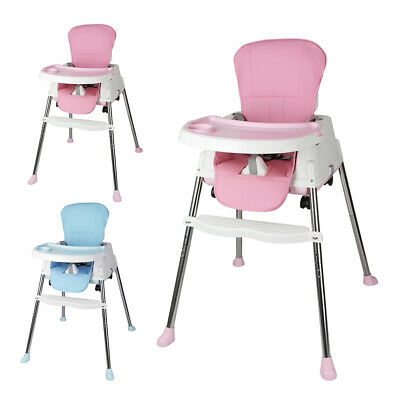 UK Baby Highchair Infant High Feeding Seat 3 In 1 Toddler Table Chair W/ Cushion • 38.99£