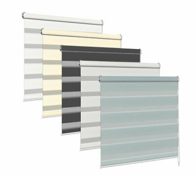 Day And Night Roller Blinds Zebra/Vision 11 Colours, 23 Sizes, 150cm Drop, Tape • 30.69£