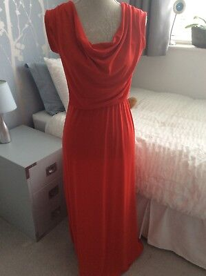 Wal G Red Cowel Neck Sleeveless Maxi Dress - Size S • 5£