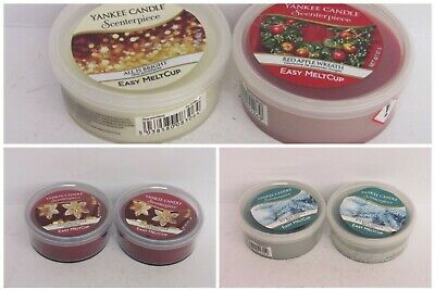 2 X Yankee Candle Christmas Easy Melt Cups • 11.50£