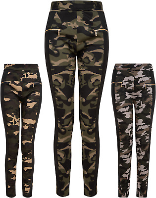 £7.95 • Buy Leggings Jeggings Lined Camo Stretch Ladies Womens Girls Waist Trousers NEW