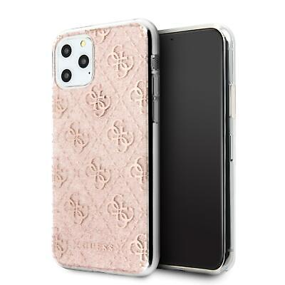 GUESS Phone Case IPhone For 11 Pro Max Hard Case PC/TPU 4G Peony Glitter Pink • 24.84£
