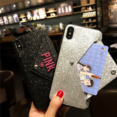 AU6.11 • Buy Bling Card Holder Wallet Case Cover Women Fit For IPhone X XS Max XR X 8 7 Plus