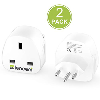 £17.12 • Buy LENCENT 2X UK To Switzerland Plug Adapter, Grounded Swiss Travel Adapter For And