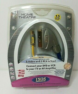 IXOS S-Video And 2 RCA To Scart 1.5m XHT501 . NEW & Sealed • 7.15£