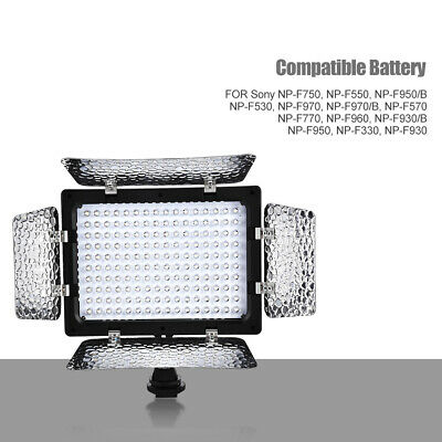 LED Video Light Photography Lighting Kit Camera Camcorder Photo Light Panel • 19.88£