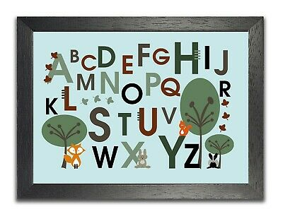 £5.99 • Buy Forest Abc Alphabet Poster School Children Kids Photo Count Baby Picture Print