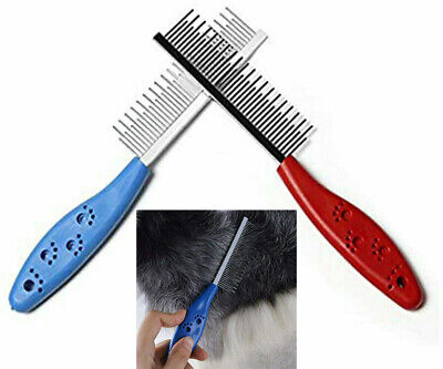 Professional Pet Grooming Undercoat Rake Comb Dematting Tool Dog Cat Brush Knots • 3.49£