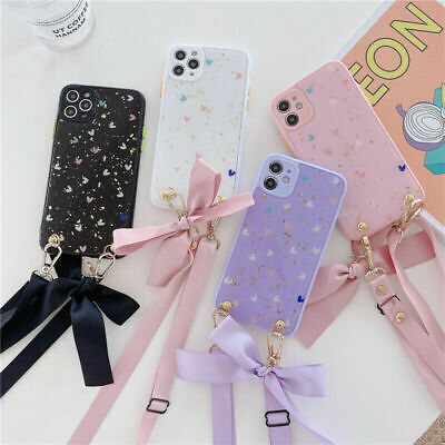 AU11.65 • Buy For IPhone 11 Pro XS Max XR 8 12 Cute Bowknot Strap Love Stand Holder Phone Case