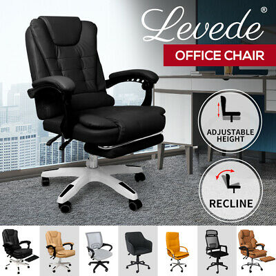 AU139.99 • Buy Gaming Chair Office Chairs Computer Recliner Racing PU Executive Footrest Seat
