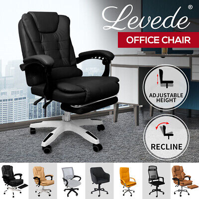 AU139.99 • Buy Gaming Chair Office Chairs Computer Seat Racing PU Leather Executive Footrest