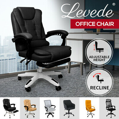 AU174.99 • Buy Levede Office Chair Gaming Chairs Computer Recliner Mesh Racing PU Executive