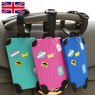 £2.75 • Buy Cute Luggage Baggage Tags Labels Name Address ID Suitcase Travel Cartoon Variety