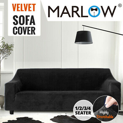 AU32.99 • Buy Sofa Cover High Stretch Super Soft Plush Slipcover Couch Protector 1-4 Seater