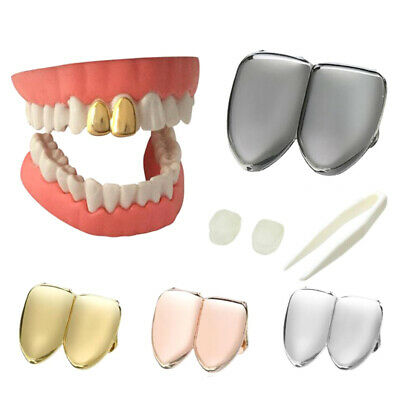 £2.72 • Buy HipHop Double Teeth Top Grills Dental Mouth Punk Fake Tooth Caps Cosplay JewB1