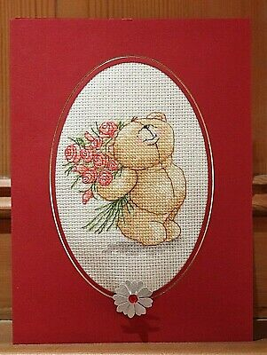 Handmade Completed Cross Stitch Card Country Companions Personalised Finished  • 5.99£