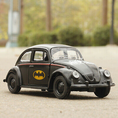 Batman VW Beetle 1/32 Scale Model Car Metal Diecast Gift Toy Vehicle Kids Black • 7.33£