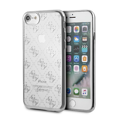 GUESS Phone Case IPhone SE (2020) IPhone 8 And IPhone 7 Hard Case TPU 4G Silver • 17.37£