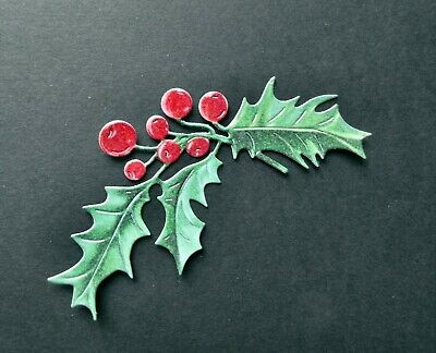 £1.90 • Buy 8 Tattered Lace Festive Pine ( Holly Sprigs ) Die Cuts