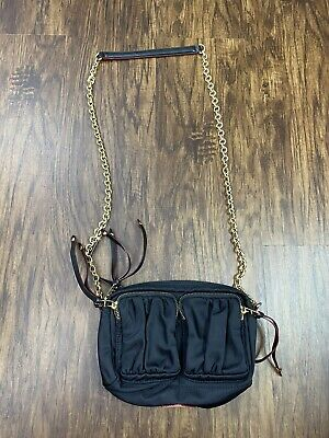 AU157.30 • Buy $295 MZ Wallace Crosby Crossbody Bag Black  Nylon Leather Trim
