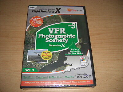VFR SCENERY Generation X Vol 3 Northern England North Wales Version 3 Pc FSX NEW • 29.99£