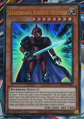 YuGiOh Legendary Knight Hermos DLCS-EN003 Ultra Rare 1st Edition Card • 1.45£