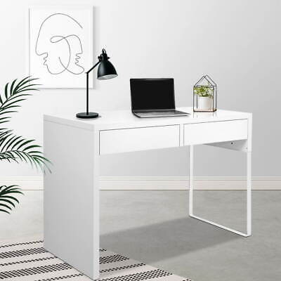 AU123.90 • Buy Artiss Home Office Computer Desk Study Table Student Storage Drawers White