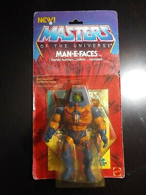 $100 • Buy MOTU Vintage MAN-E-FACES Masters Of The Universe MOC Sealed Figure He-Man MISB