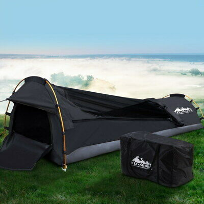 AU138.90 • Buy Weisshorn Camping Swags Single Biker Swag Grey Ripstop Canvas Tent