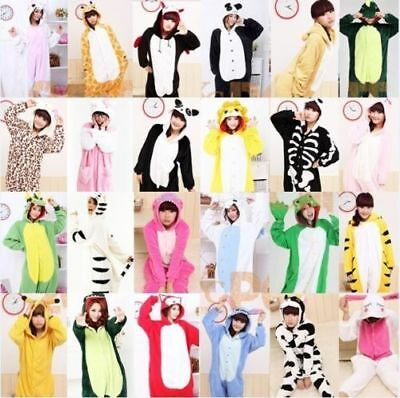 UK Adult Kigurumi Animal Pajamas Cosplay Costume Sleepwear Halloween Outfit New • 15.88£