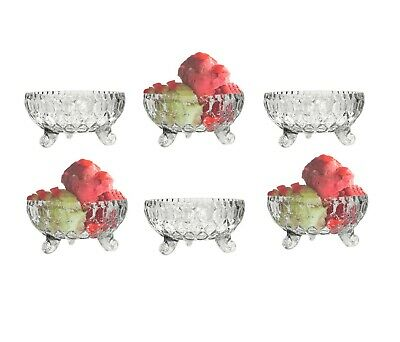 £9.99 • Buy 6 X Ice Cream Sundae Glass Footed Dessert Trifle Cocktail Fruit Salad Dishes Cup