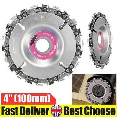 For 100/115mm Angle Grinder Tooth Chain Saw Blade Disc Wood Plastic Cutting Tool • 9.49£