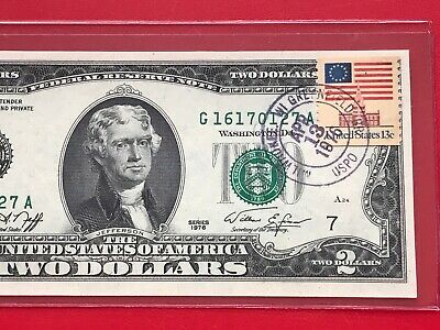 $ CDN18.32 • Buy 1976 $2 TWO DOLLAR BILL ( CHICAGO ) Stamp , UNCIRCULATED
