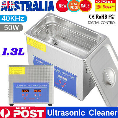 AU73.75 • Buy 1.3L Digital Ultrasonic Cleaner Stainless Industrial Cleaning Tank Timer Heater