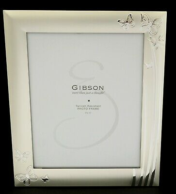 AU36.95 • Buy Silver Plated 8 X10in 20 X 25cm Butterfly Photo Frame Quality Tarnish Resistant