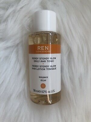 Ren Clean Skincare Ready Steady Glow Daily AHA Tonic 50ml Exfoliating Radiance • 9.91£