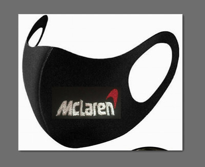 Formula F1 Mclaren & Logo Embroidered Face Mask Adults. Washable & Protective. • 4.99£