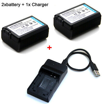AU24.99 • Buy Battery / Charger For FW50 Sony Alpha A3000 A5000 A5100 A6000 A6300 A6400 A6500