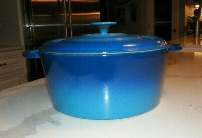$ CDN285.46 • Buy Staub Basix Qvc Blue Cast Iron Enamel 5 Qt Dutch Oven Never Used
