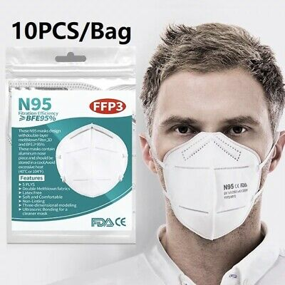 AU18.95 • Buy N95 KN95 Face Mask Reusable Mouth Masks Anti Dust 5 Layer Respirator Protective